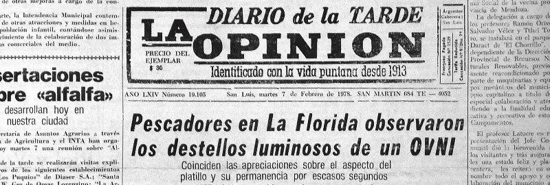OVNI DE LA FLORIDA - SAN LUIS