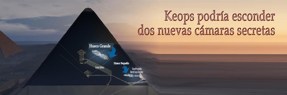 El descubrimiento de lo que parece ser una cavidad gigante dentro de la pirámide de Keops profundiza aún más el misterio que rodea a la Gran Pirámide de Guiza en Egipto.