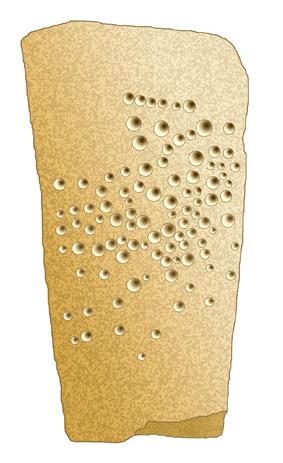 Uno de ortostatos esquematizado. Nos muestra, sin duda, un mapa estelar.