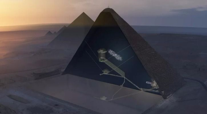 Los rayos cómicos nos ha ayudado a descubrir dos misteriosas cámaras ocultas en la pirámide de Keops.
