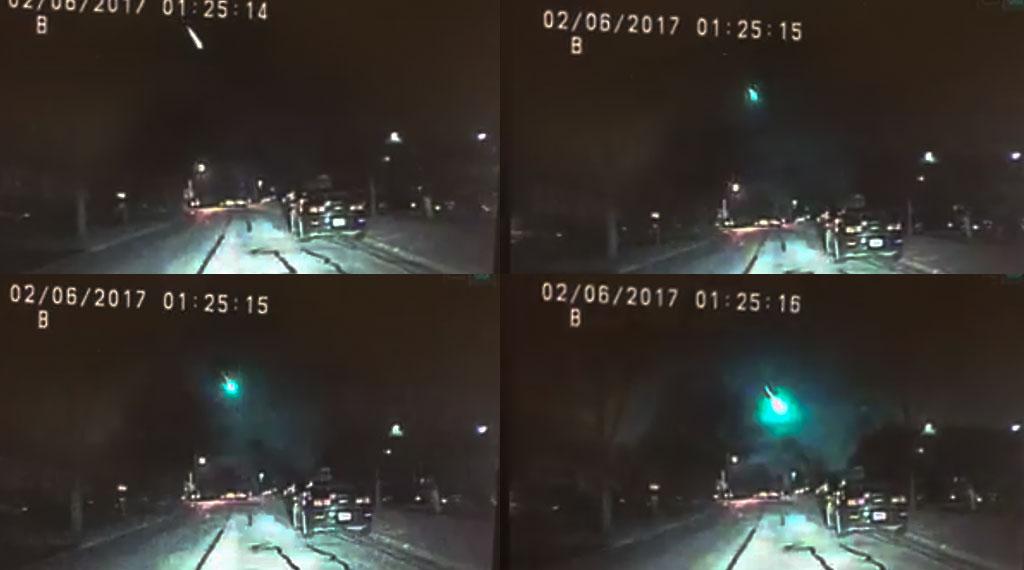 El Servicio Geológico de los Estados Unidos (USGS, por sus siglas en inglés) confirmó la caída de un meteorito en las afueras de Detroit (Michigan) que provocó un pequeño temblor de intensidad 2 en la escala de Richter. El meteorito fue visto en toda en lugares como Ohio, Michigan y Ontario.