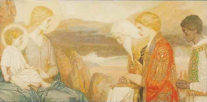 Adoración de los Reyes Magos al Hijo de Dios