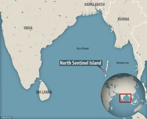 Ubicación de la Isla Sentinel del Norte
