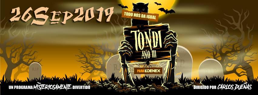 """NUEVA TEMPORADA DE """"TODO NOS DA IGUAL"""" - 26 de Septiembre a las 23 horas. ¡Sólo en EDENEX!"""