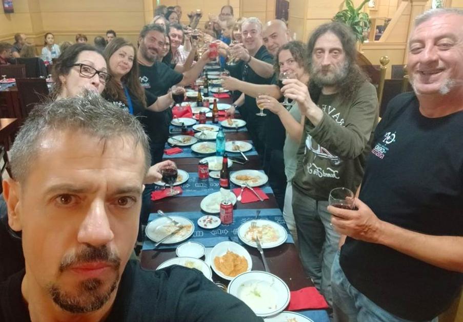 Encuentro de gran parte del equipo de TONDI. Podemos distinguir a Carlos DUeñas, Carlos Horrillo y Don Luis Luis. Fuente: Facebook.