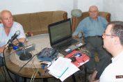 """De izquierda a derecha, Miguel Pereira, Alberto Guzmán y Juan Pereira durante la emisión de """"Misterio Directo"""" en el lugar de las apariciones de los primeros rostros. Año 2011 (c)A.Guzmán"""