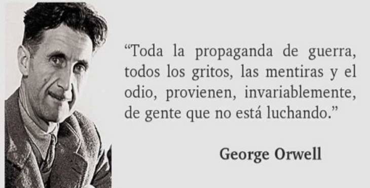 frase de Orwell