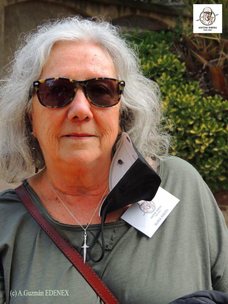 Nuria Ribera, hija del homenajeado, posa para EDENEX. Es la viva imagen de Antoni y nos emocionó a todos con sus palabras y recuerdos. (Foto: Alberto Guzmán -EDENEX -)